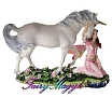 Nemesis Now Fairy and Unicorn Figurine Maiden's Sweet Song
