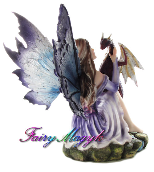 Nemesis Now Premium Fairy and Dragon - Blossoming Basilisk - Click Image to Close