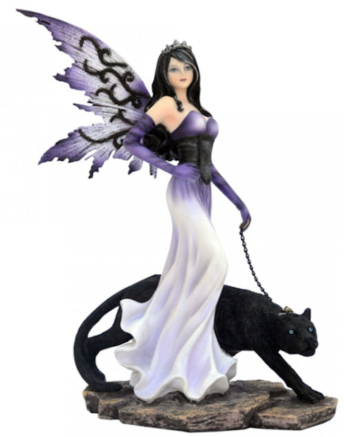 Nemesis Now Premium Fairy and Black Panther Panthea