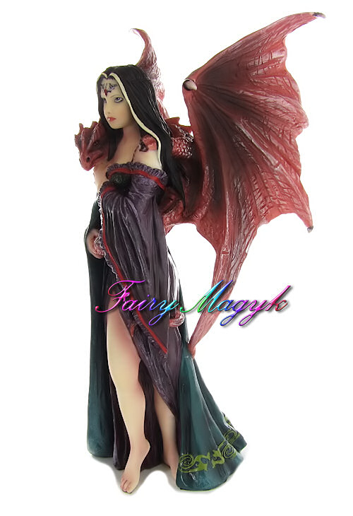 Anne Stokes Fairy and Dragon Figurine Soul Mates - Click Image to Close