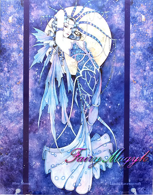 Linda Ravenscroft Decorative Ceramic Tile Blue Moon
